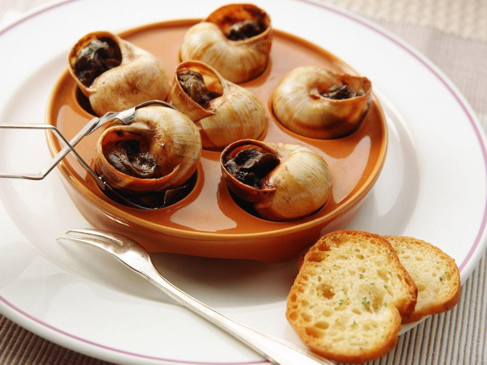 деликатес с виноградной улитки